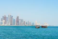 都市风景多哈卡塔尔 库存照片