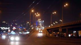 都市风景夜交通 股票录像