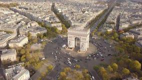 都市风景巴黎 影视素材