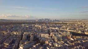 都市风景巴黎 股票视频