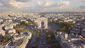 都市风景巴黎 股票录像