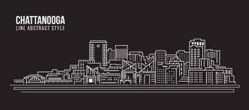 都市风景建筑限界艺术传染媒介例证设计-加得奴加市 库存例证