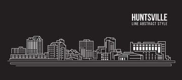 都市风景建筑限界艺术传染媒介例证设计-汉茨维尔市 图库摄影