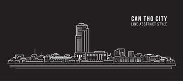 都市风景建筑限界艺术传染媒介例证设计-芹苴市 库存照片