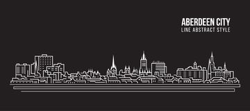 都市风景建筑限界艺术传染媒介例证设计-阿伯丁市 皇族释放例证