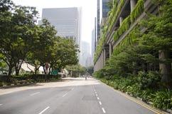 都市风景摩天大楼建筑学日落 库存图片