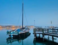 都市风景日内瓦老帆船 免版税库存照片