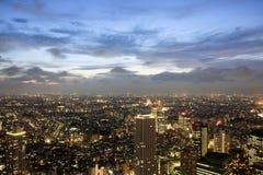 都市风景晚上东京 免版税库存照片