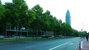 都市风景法兰克福德国 股票录像