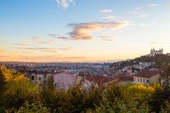 都市风景法国利昂 免版税库存照片