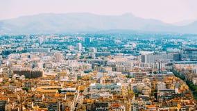 都市风景法国马赛 都市的背景 夏天 图库摄影