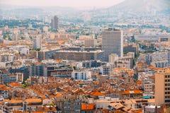 都市风景法国马赛 都市的背景 图库摄影