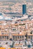 都市风景法国马赛 都市的背景 免版税库存照片