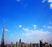都市风景现代的迪拜 免版税库存图片