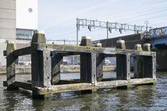 都市风景的细节在阿姆斯特丹 库存照片