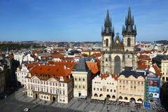 都市风景老布拉格 免版税库存图片