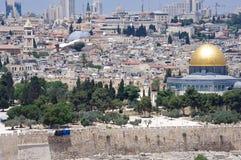 都市风景老耶路撒冷 免版税库存图片