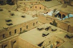 都市风景背景在开罗,埃及 库存照片