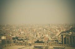 都市风景背景在开罗,埃及 图库摄影