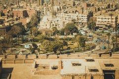 都市风景背景在开罗,埃及 免版税库存图片