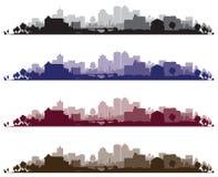 都市风景背景 免版税库存照片