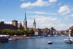 都市风景苏黎世 免版税图库摄影