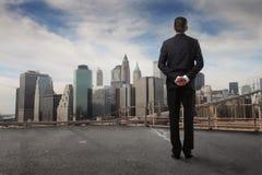 都市风景观察 免版税库存照片
