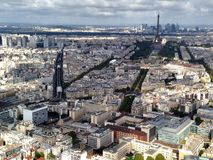 巴黎都市风景视图 库存图片