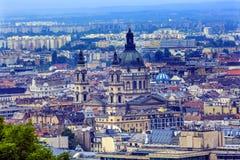 都市风景都市圣徒斯蒂芬斯大教堂布达佩斯匈牙利 免版税库存图片