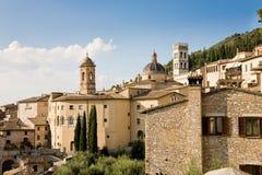 都市风景阿西西,意大利 库存图片