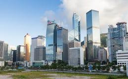 都市风景香港 摩天大楼 免版税库存图片