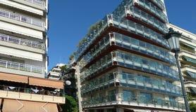 都市风景,一个美丽的大厦 免版税库存图片