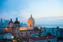 都市风景,卡塔赫钠de Indias,哥伦比亚 免版税库存图片