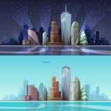 都市风景 也corel凹道例证向量 图库摄影