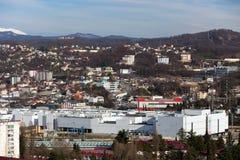 都市风景索契 俄国 免版税库存图片