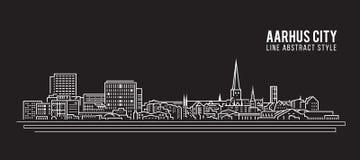 都市风景建筑限界艺术传染媒介例证设计-奥尔胡斯市 皇族释放例证
