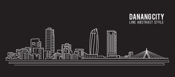 都市风景建筑限界艺术传染媒介例证设计-岘港市 皇族释放例证