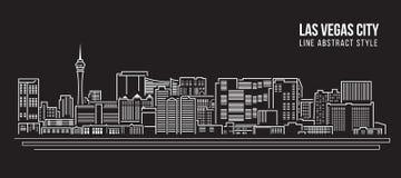 都市风景建筑限界艺术传染媒介例证设计-拉斯维加斯市 皇族释放例证
