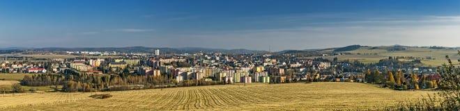 都市风景Bruntal 免版税库存照片