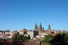 都市风景compostela de圣地亚哥西班牙 免版税库存照片