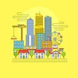 都市风景eps文件包括的向量 图库摄影