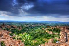 都市风景Siena (toscana -意大利) 免版税库存图片