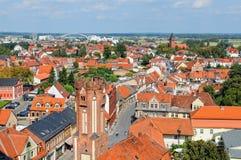 都市风景Tangermunde (萨克森Anhalt,德国) 免版税库存图片