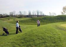 都市高尔夫球运动员的夫人 库存图片