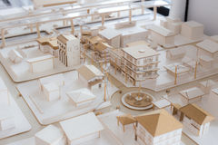 都市Architecure模型 图库摄影