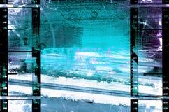 都市filmstrips的grunge 图库摄影