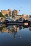 都市Fishboat,温哥华 库存图片