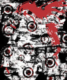 都市grunge的泼溅物 免版税库存照片