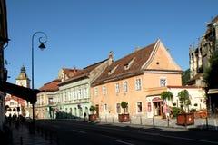 都市lanscape在布拉索夫, Transilvania 免版税库存照片