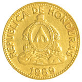 10洪都拉斯伦皮拉分硬币 库存图片